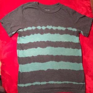 Boys M Cherokee striped tie-dye short sleeve tee